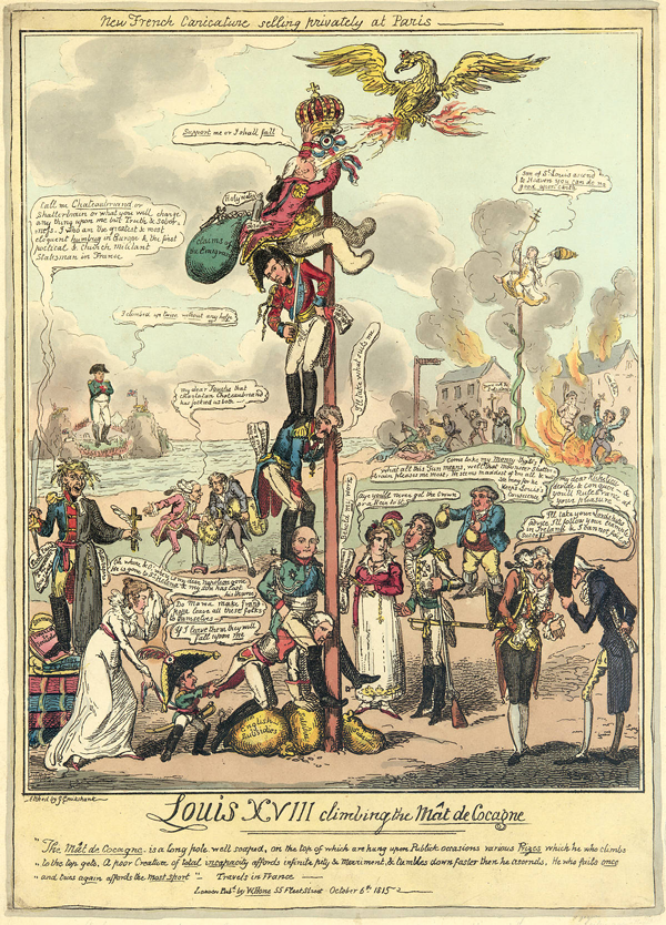 Louis XVIII Climbing the Mat de Cocagne